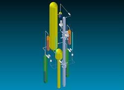 ista 3D della facility SPES3 - IRIS (preliminare)
