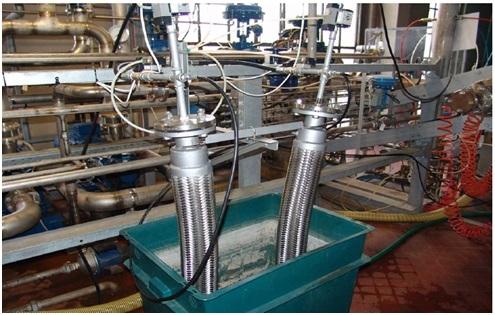 Test di pressurizzazione su tubi flessibili